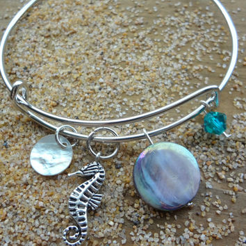 Sea Horse Beach Ocean Charm Adjustable Bracelet
