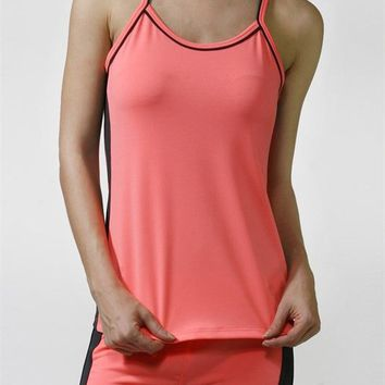 Sleeveless Yoga Fitness Spaghetti Strap Cami Workout Tank Top Shirt