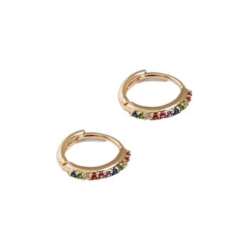 Dylan Skye Rainbow Mini Hoop Earring