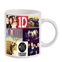 Gift Mugs | 5 Second Of Summer One Direction Collage Art Ceramic Coffee Mugs