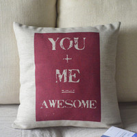 You And Me Print Decorative Pillow on Luulla