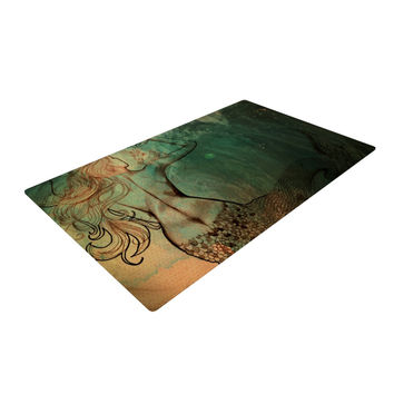 "Theresa Giolzetti ""Poor Mermaid"" Woven Area Rug"