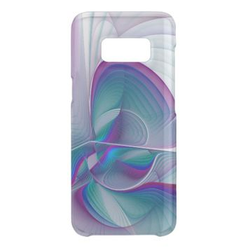 Colorful Modern Pink Blue Turquoise Fractal Art Get Uncommon Samsung Galaxy S8 Case