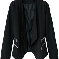 Black Zipper Blazer