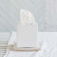 Ceramic Tissue Box Cover - White from The White Company