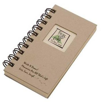 Biking The Bikers Journal  MINI Kraft Hard Cover prompts on every page recycled paper read more