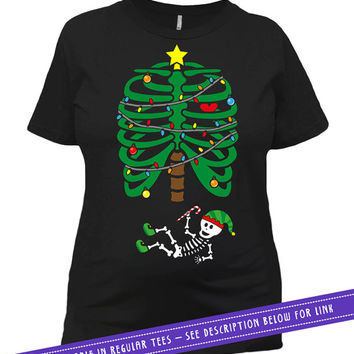 652037a1 Christmas Pregnancy Announcement Maternity T Shirt Skeleton Shir. Maternity  Style T-Shirts, Baby