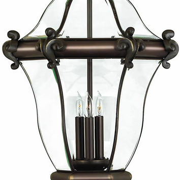 "0-018869>27""h San Clemente 3-Light Extra-Large Outdoor Post Lantern Copper Bronze"