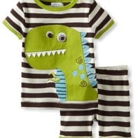 Mud Pie Baby Boys' Dinosaur Short Pajama Set, Multi, 6 9 Months