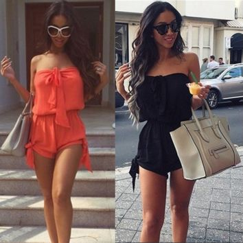 Sexy Mini Playsuit Ladies Jumpsuit Summer Shorts Beach Casual Dress [6273373124]