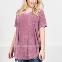 Faded Amethyst Pocket Top