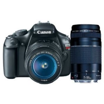 Canon EOS Rebel T3 12.2 MP CMOS Digital SLR with 18-55mm IS II Lens + Canon EF 75-300mm f/4-5.6 III Telephoto Zoom Lens (Discontinued by Manufacturer)