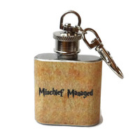 Stainless Steel Hip Flask - Mischief Managed - Harry Potter marauders map -4oz 6oz 2oz 1oz