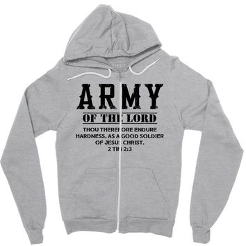 Army Of The Lord Christian T Shirts Bible Verse Zipper Hoodie