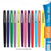 Paper Mate Flair Porous Point Stick Pen, Assorted Ink, Medium, 12pk - Walmart.com