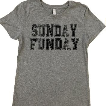 Sunday Funday - Ladies, Tri Blend T Shirt.