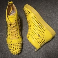 Cl Christian Louboutin Louis Spikes Style #1842 Sneakers Fashion Shoes