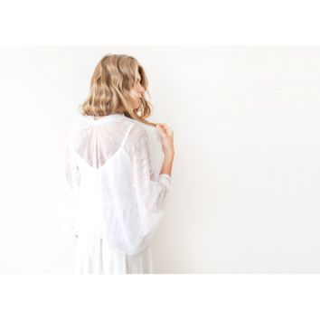Ivory Lace Shrug, Bridal Cover Up 2016