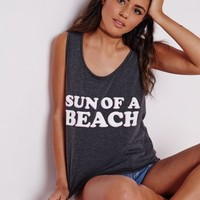 Missguided - Slogan Sun Of A Beach Vest