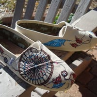 Dream catchers you chose the colors hand painted on by ArtfulSoles