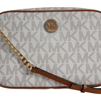 Michael Kors Fulton Leather Large East West Cross-body with Back Slip Pocket