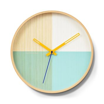 Flor Wall Clock by Cloudnola TURQUOISE