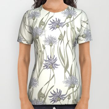vintage cornflowers All Over Print Shirt by Anna Koto