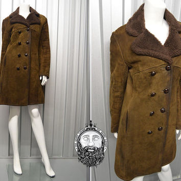 Green Sheepskin Coat | Down Coat