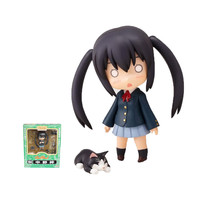 GSC Nendoroid 104# Manga Time Kirara K-ON! Nakano Azusa Boxed Cute Cat Action Figure Model Collection Toy 10cm 4''