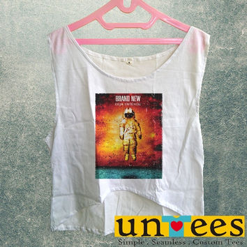 Women's Crop Tank - Brand New Deja Entendu Astronaut Design