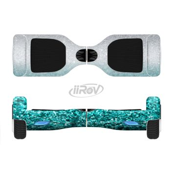 The Aqua Blue & Silver Glimmer Fade Full Body Skin Set for the Smart Drifting SuperCharged Transportation iiRov