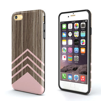 wood pink triangle iPhone 6 Case,wood Tough iPhone 6S Case,iPhone 6s Plus Case,triangle Tough iPhone 6s Case,iPhone SE Case