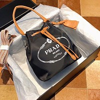 Prada lightweight women's drawstring bucket bag