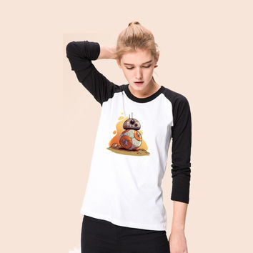 Star Wars The Force Awakens Resistance BB-8 Girls T shirt For Women girls long sleeves Tee Tops Printed  Cosplay costume