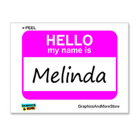 Melinda Hello My Name Is Sticker