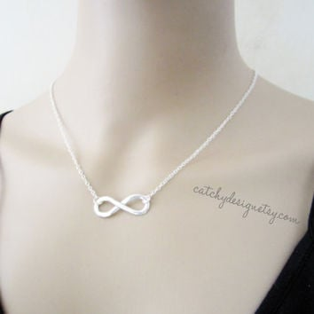 Infinity Necklace-Silver infinity necklace,Bridesmaid,special meaning card,Graduation,Birthday gift,Anniversary gift,BFF gift,BFL,gift