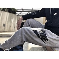 """NIKE"" Hot Sale Trending Men Women Stylish Running Sport Stretch Pants Trousers Sweatpants Grey"