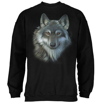 Timber Wolf Face Mens Sweatshirt