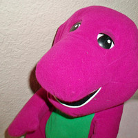 Barney Toy Stuffed Animal Purple Dinosaur Playskool Hasbro 1996