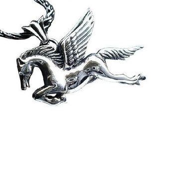 Greek Mythology Pegasus Necklace Silver God's Jewelry for Men (PENDANT ONLY)