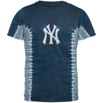 New York Yankees - Logo Side Pleats Tie Dye T-Shirt