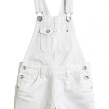 White Denim Shortalls | Girls Shorts Clearance Bottoms | Shop Justice