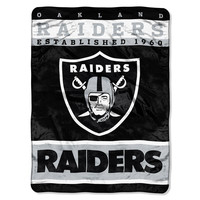 Oakland Raiders NFL Royal Plush Raschel (12th Man Series) (60in x 80in)