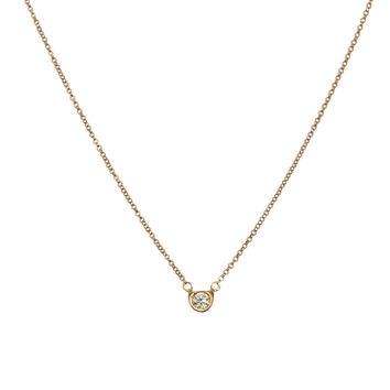 Diamond Solitaire Necklace in 18k solid gold