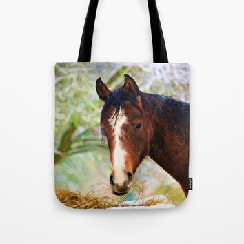 Horse Art Tote Bag by InDepth Designs
