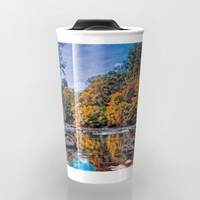 Autumn River Travel Mug by Scott Hervieux | Society6