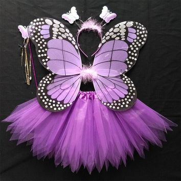 new Halloween child Fairy Costume Suit Fairy girl butterfly wings elf Animal cosplay Dress wings fairy Forest  clothingKawaii Pokemon go  AT_89_9