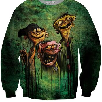 Ed, Edd n Eddy on Bath Salts Crewneck Sweatshirt