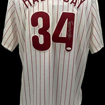 Roy Halladay Signed Autographed Philadelphia Phillies Baseball Jersey (JSA COA)