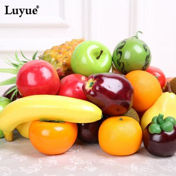 Luyue Artificial Fruits lifelike Simulation Fruits for home and party wedding decoration Photo props kitchen decor fruit mold